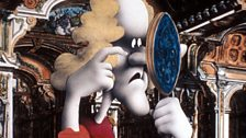 Artwork by Terry Gilliam of a woman looking in a mirror.