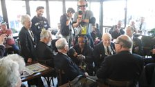Chris talks to some of the many veterans in Arromanches for the D-Day 70 commemorations
