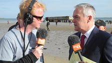 Chris chats to Huw Edwards, who's presenting BBC One's live D-Day anniversary programmes