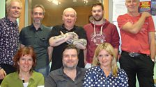 Festival organiser Chris Wade and The Nick Rooke Band with David, Mark and Lee Durberville at BBC Leeds