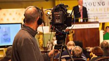 The camera points towards the rostrum