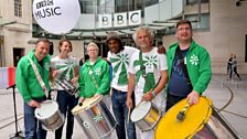 The London School of Samba. Photo by Mark Allan/BBC