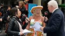 Suzy Klein and Sean Rafferty talk to Jo Treagus (Chair of the New Carnival Company). Photo by Mark Allan/BBC