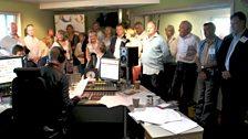 """The generous Children in Need """"Dirty Dozen"""" bidders join Chris in the Radio 2 studio."""