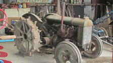 Part of Alex Sharphouse's collection of vintage machinery