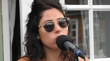 Eliza Doolittle performs ahead of her appearance at the Dine and Disco