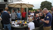 The Chris Evans Breakfast Show balcony broadcast