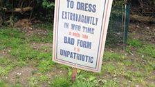 Wartime signage on display at Dunham Massey