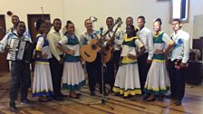 Commonwealth Connections Seychelles - Group shot of all dancers & musicians of LaTroupe Nacyonal Sesel.