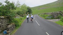 Helen and Gia take on the beginning of the climb up toward the Buttertubs Pass