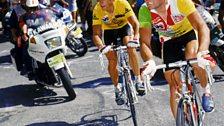 The Gladiators - Bernard Hinault and Greg Lemond duel it out at Alpe d' Huez in 1986..jpg
