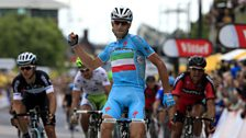 Vincenzo Nibali wins stage two in Yorkshire, Tour De France 2014