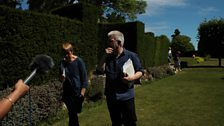 Recording in the garden with Penelope Shuttle