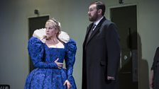 Joyce DiDonato as Maria Stuarda and Matthew Rose as Giorgio Talbot