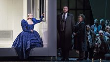 Joyce DiDonato as Maria Stuarda, Matthew Rose as Giorgio Talbot and Kathleen Wilkinson as Anna Kennedy