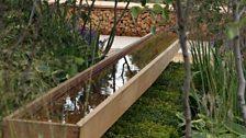 A cedar water channel