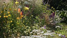 Soft, naturalistic planting is used throughout