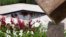 Sculptural details in the garden