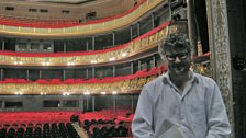 Tom Service onstage at the Latvian National Opera