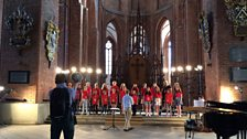 The Bradford Catholic Girls Choir rehearse for the World Choir Games