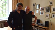 Tom Service with the Latvian composer Peteris Vasks