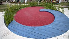 Ocean Spray Cranberry Harvest display