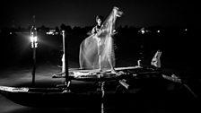 Night fisherman on the Batticaloa lagoon.