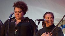 Casey Donovan and Shellie Morris