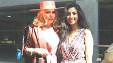 Noreen with retro-singer Paloma Faith