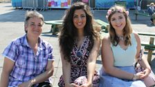 Noreen with fellow Brummies Marie and Hannah