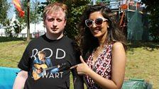 Noreen meets a loyal Rod Stewart fan