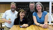 The Forum Team of Bob Nettles, Bridget Kendall, Radek Boschetty and Sarah Crawley in South Africa: photo by BBC