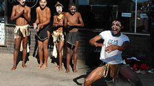 Street dancers at Grahamstown , South Africa: photo by BBC