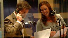 Rob Brydon and Stephanie Racine in the studio