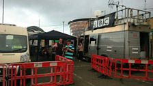 The BBC Local Radio set-up in Glasgow