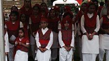 Sikh children in tartan at Glasgow's newest Gurudwara