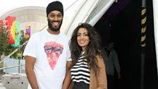 Noreen and beatboxer Big Tajj