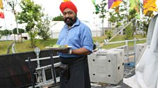 Chef Tony Singh gets ready for his cooking masterclass.