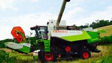 Fixing the combine; Courtesy of Ronald White, Bix Bottom, Oxfordshire