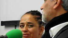 Phillippa Yaa de Villiers and Mike Van Graan: photo by BBC