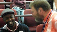 Percy Mabandu and BBC sound engineer Bob Nettles: photo by BBC