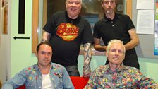 Serious Sam Barrett with Lee, Mark and David Durberville at BBC Leeds