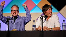 Robin Ince and Brian Cox
