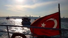 Turkey: The ferry from Istanbul to the historic district of Üsküdar.