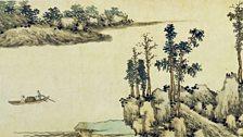 With oars adrift on a lake, by Shen Zhou (1427 – 1509) | detail