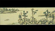 With oars adrift on a lake, by Shen Zhou (1427 – 1509)