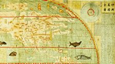 Map of the Myriad Countries of the World, by Matteo Ricci (1552-1610) and Li Zhizao (1565-1630) | detail, North America
