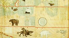 Map of the Myriad Countries of the World, by Matteo Ricci (1552-1610) and Li Zhizao (1565-1630) | detail, animals