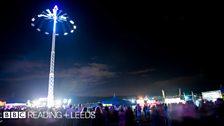 Leeds Festival at night
