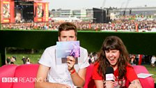 Greg James and Jen Long in the BBC Three studio